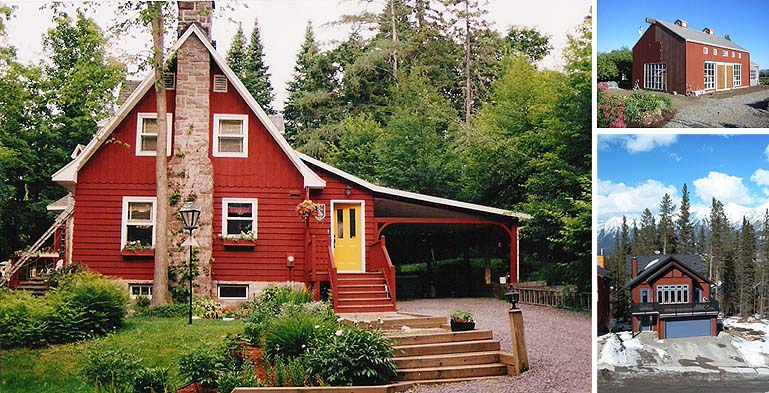Red Trim With Green Home Exterior Paint  Joy Studio Design Gallery ...
